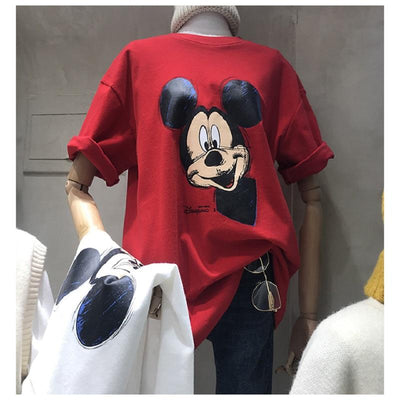 Mickey High Quality Cotton T-shirts 1928Mickey S Red