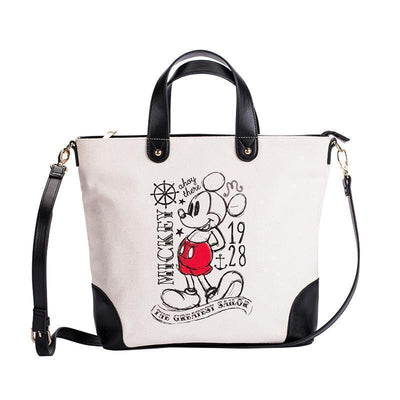 2018 new student Mickey canvas bag large capacity handbag Handbag 1928Mickey Black