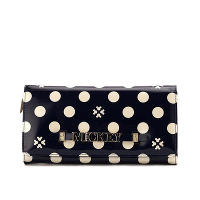 Mickey Polka Dot long wallet Wallets 1928Mickey Blue