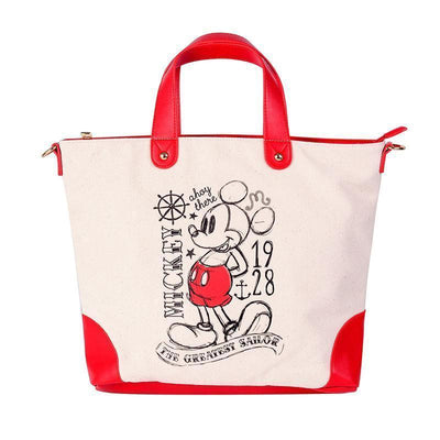 2018 new student Mickey canvas bag large capacity handbag Handbag 1928Mickey Red