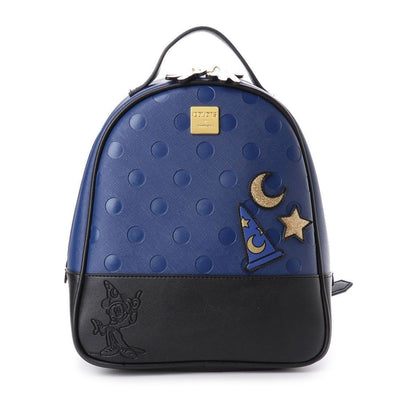 Cute Minnie Style Leather Backpack Backpack 1928Mickey Blue