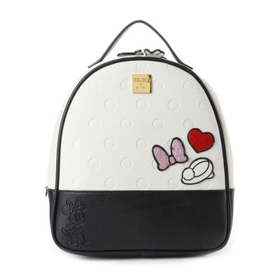 Cute Minnie Style Leather Backpack Backpack 1928Mickey White