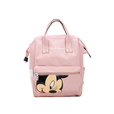 Fashion Mickey Mouse Waterproof Large Capacity Backpack *3 Colors Option Backpack 1928Mickey Pink
