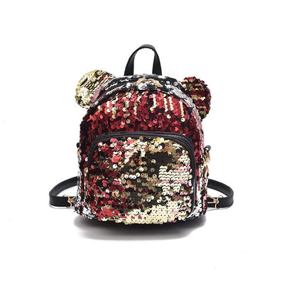 Minnie Mouse Potion Sequined Mini Backpack Backpack 1928Mickey Gold