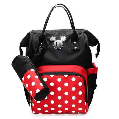 2PCS / Set Mouse Large Capacity Diaper Backpack Backpack 1928Mickey Minnie