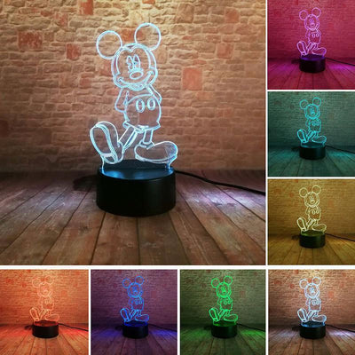 Mickey 3D Illusion LED Nightlight Accessories 1928Mickey