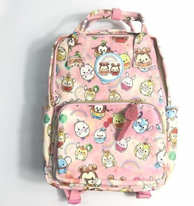 Canvas Cloud Series Backpack Backpack 1928Mickey Pink