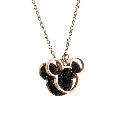 Mickey Minnie Mouse Pendant Necklace -  - 1928Mickey