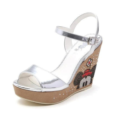 Minnie Wedge Summer Sandals - shoes - 1928Mickey