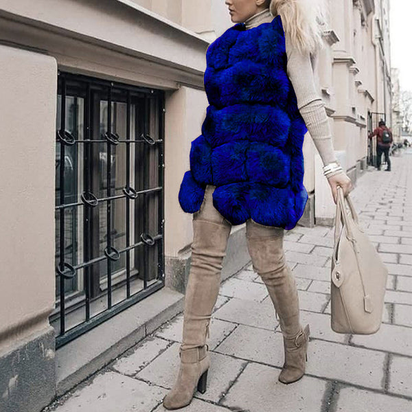 Women's Fashion Faux Fur Vest