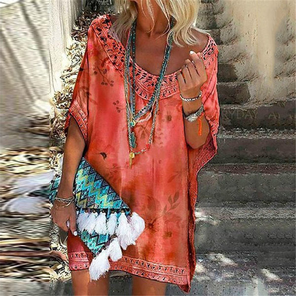 Ethnic Style Printed Big Pendulum Dress