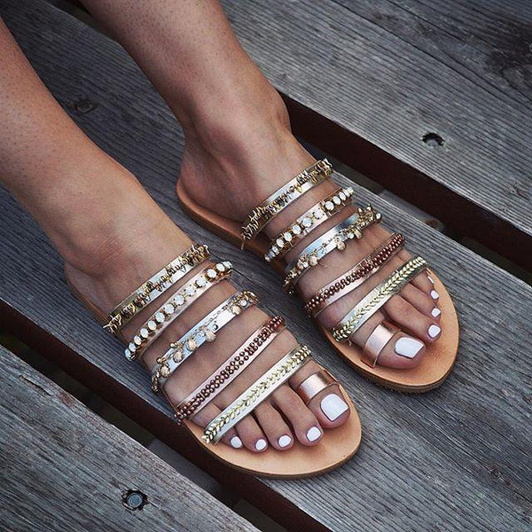 Fashion Vintage Bohemian Flat Slippers
