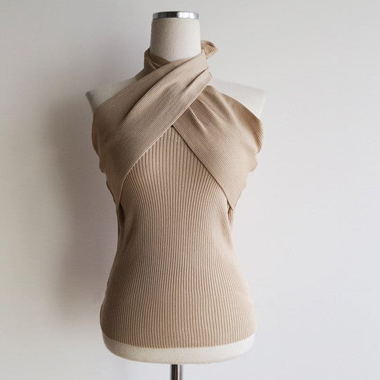 Women's Casual Backless Knit Top sweater