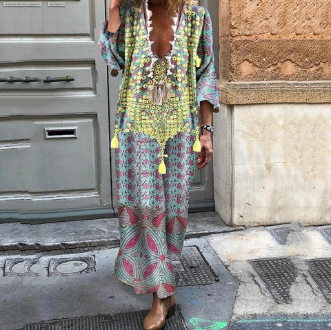 Adoradress Bohemian Print Casual Maxi Dress