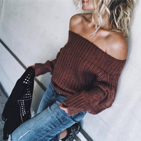 Long Sleeve Twist Slim Sweater