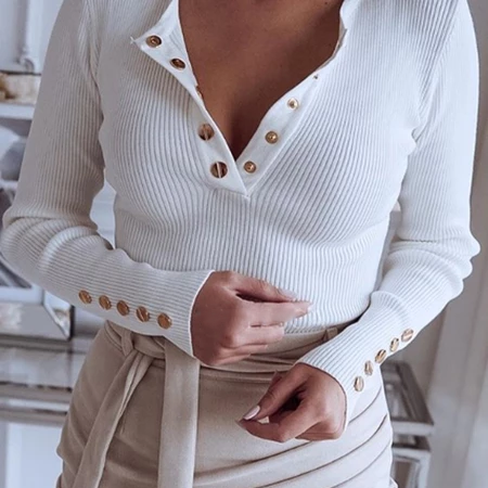 Casual button down T-shirt Sweater