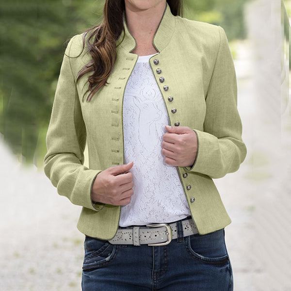 Stylish Single - Breasted Solid Color Jacket