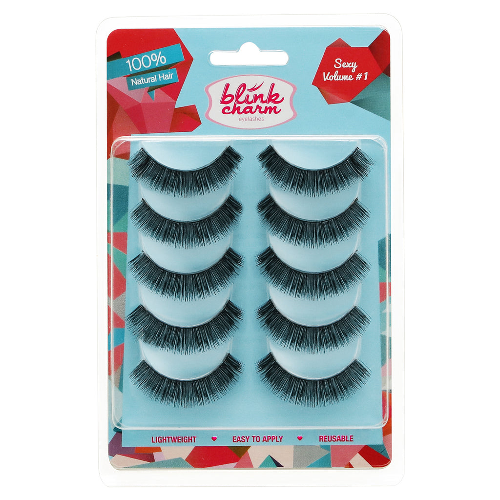 Blink Charm Eyelashes Sexy Volume #1 - 5 Pair
