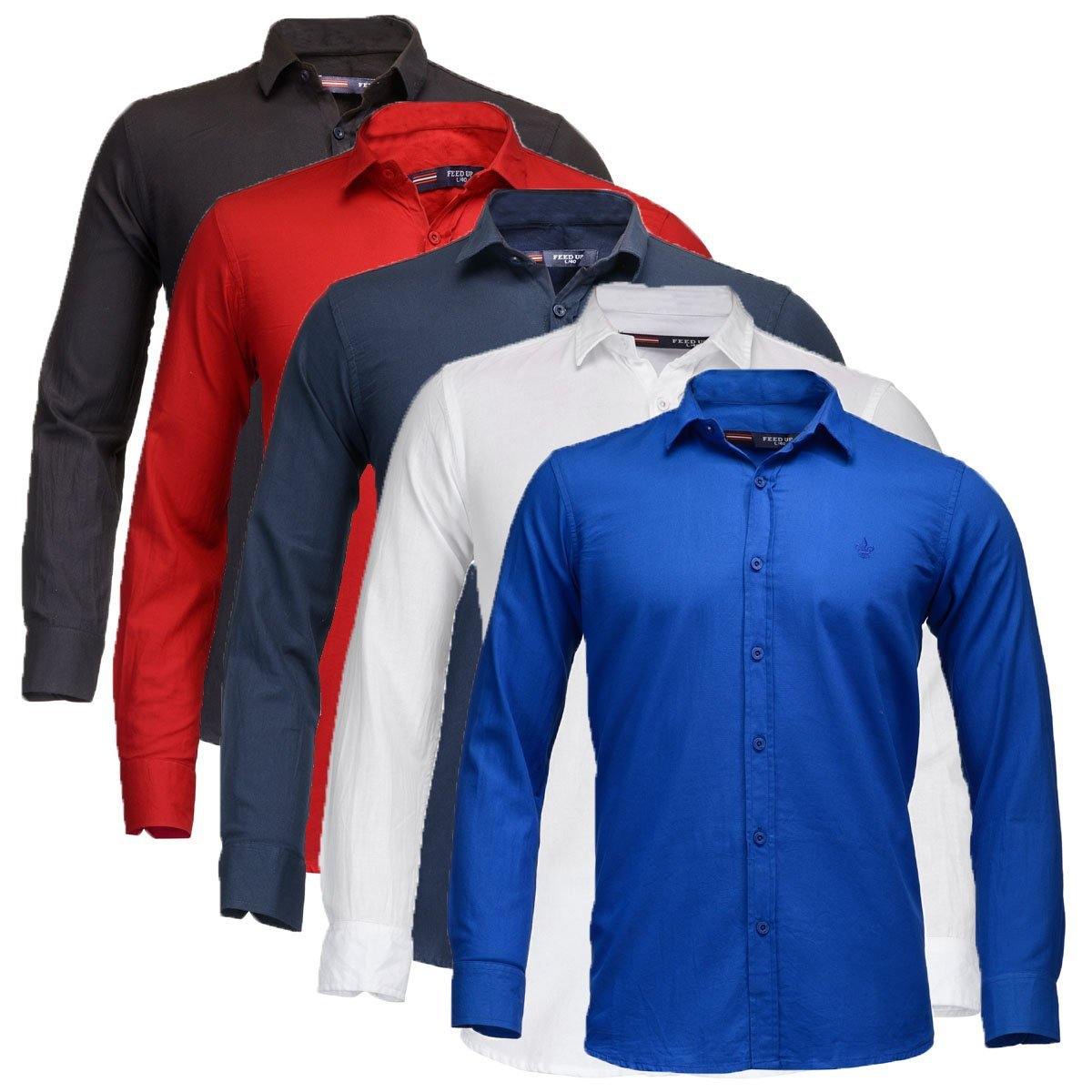 84bc9efd9 Men's Shirt with Splash Printed with long sleeves Combo of 3 ...