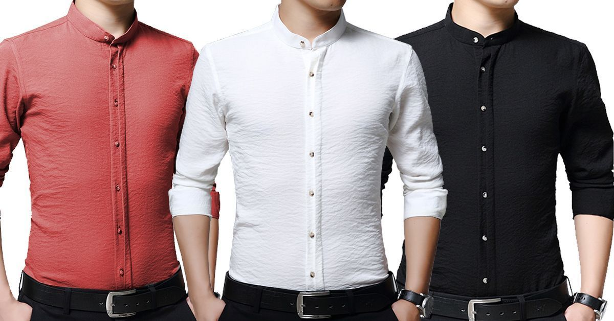 f627471d1 New branded Wrinkle Design Casual slim fit with long sleeves shirts for men  PACK of 3
