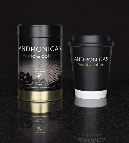 Andronicas Coffee Tin and Cup