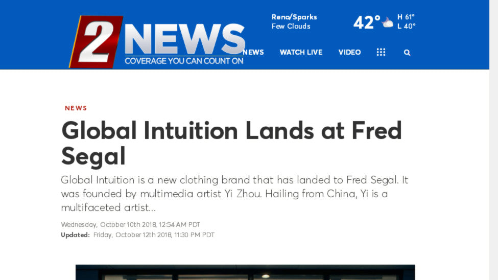 Global Intuition Lands at Fred Segal - KTVN Channe