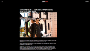 Entrepreneur & Multimedia Artist Yizhou Debuts At Fred Segal