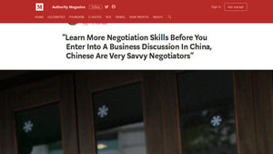 """Learn More Negotiation Skills Before You Enter Into A Business Discussion In China, Chinese Are Very Savvy Negotiators"""