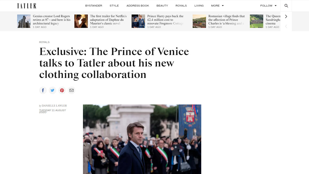 Tatler - Exclusive: The Prince of Venice talks to Tatler about his new clothing collaboration