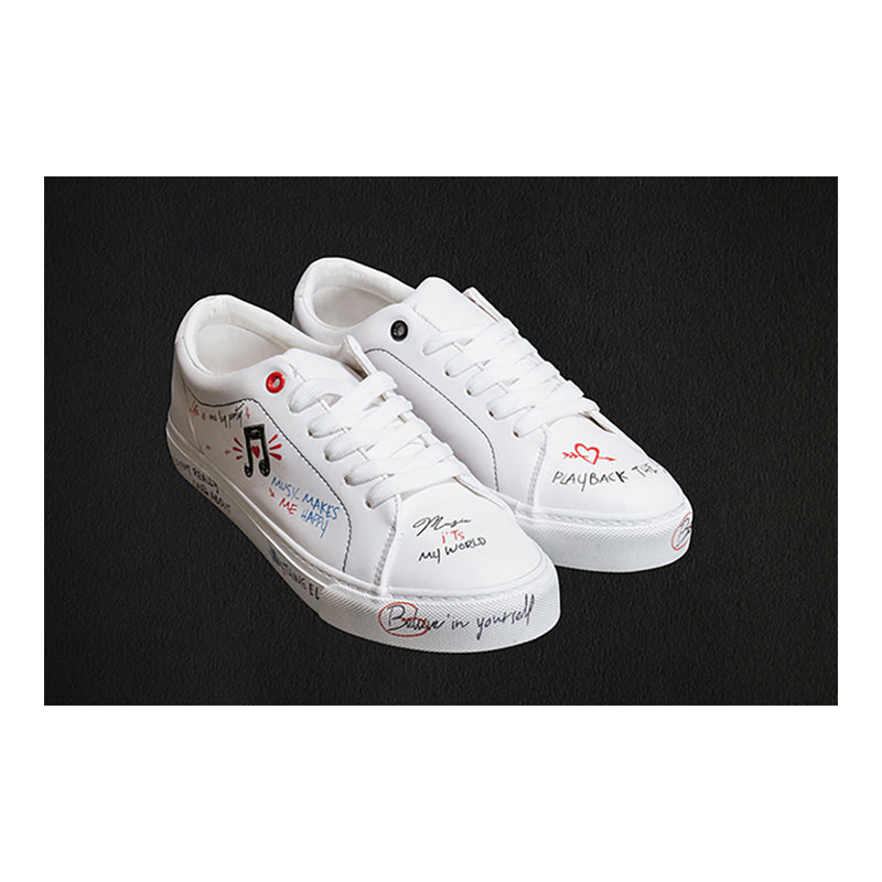 Women's Inscribed Plimsoll Sneakers
