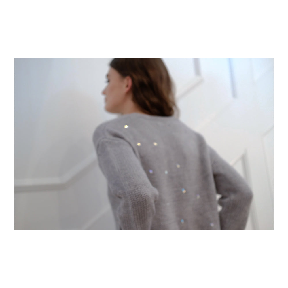 KNIT SWEATER WITH SWAROVSKI CRYSTALS