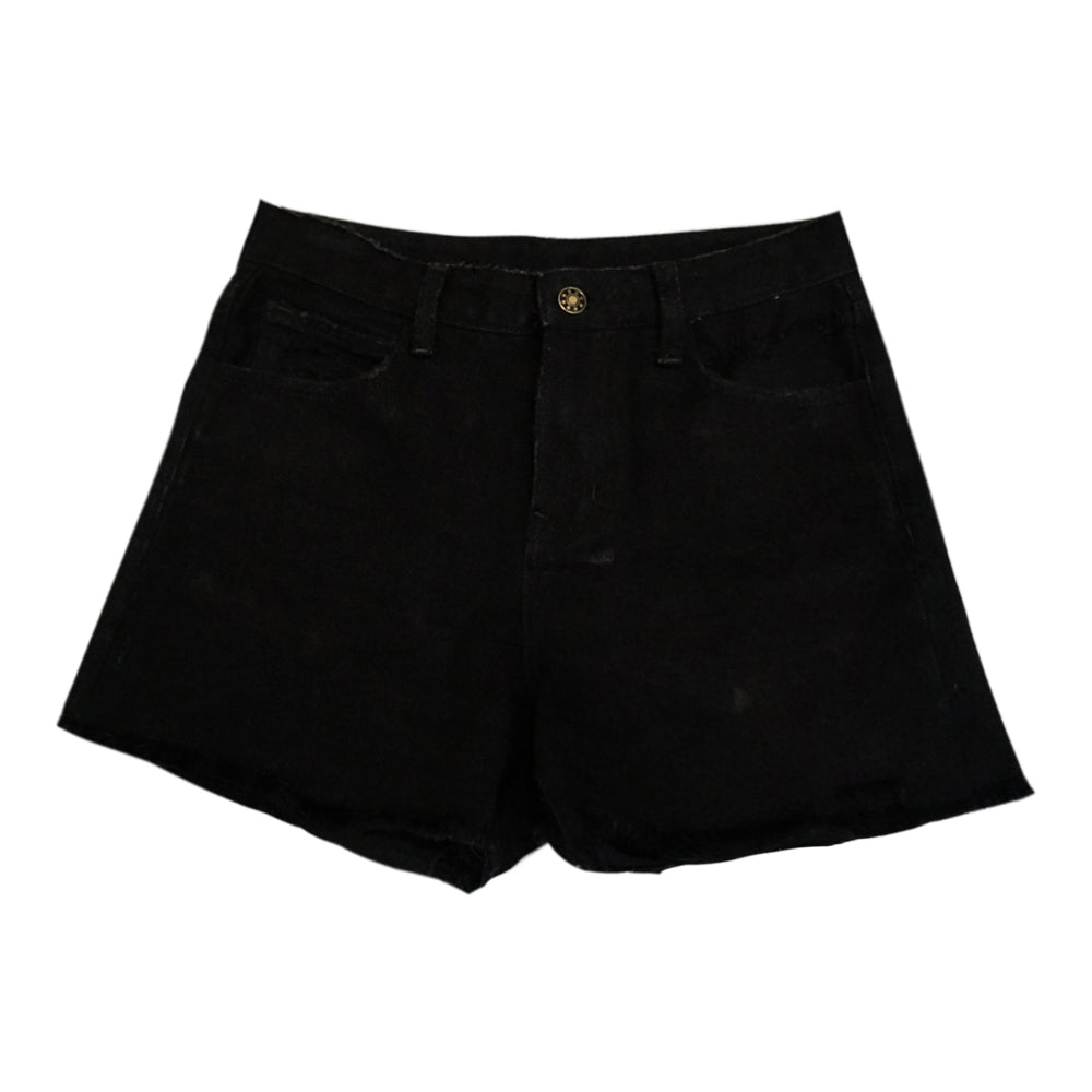 Intuition Distressed Black Fray Shorts