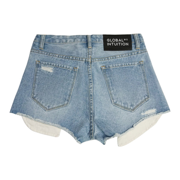 INTUITION DISTRESSED FRAY SHORT