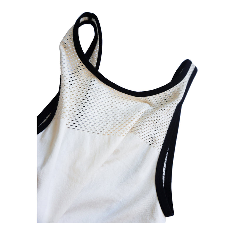 INTUITION  CREAM MESH SLEEVELESS BODYSUIT