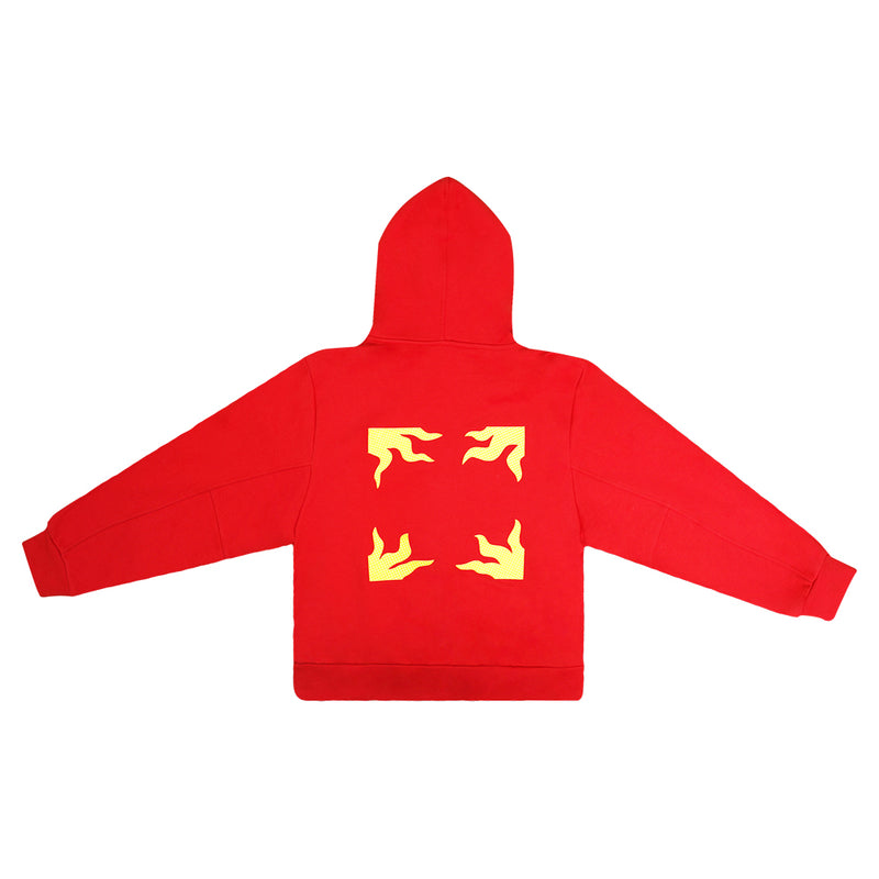 """Eagle and Crown"" Red Graphic Hoodie"