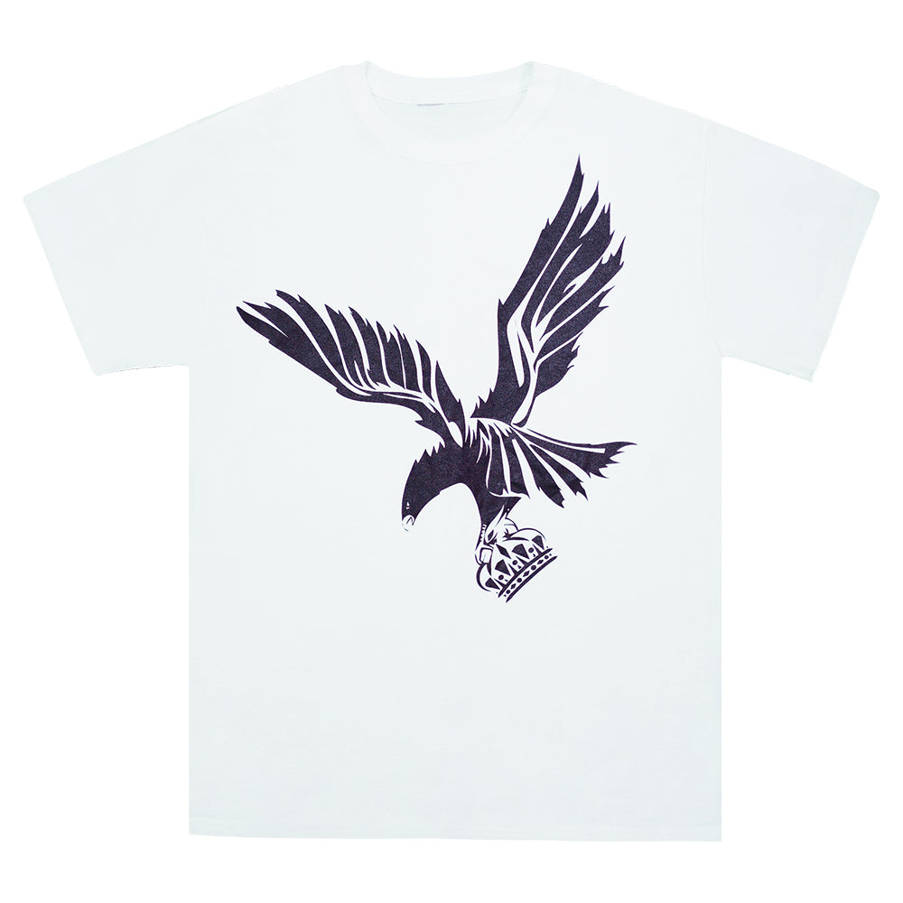 """Eagle and Crown"" White Graphic T-shirt"