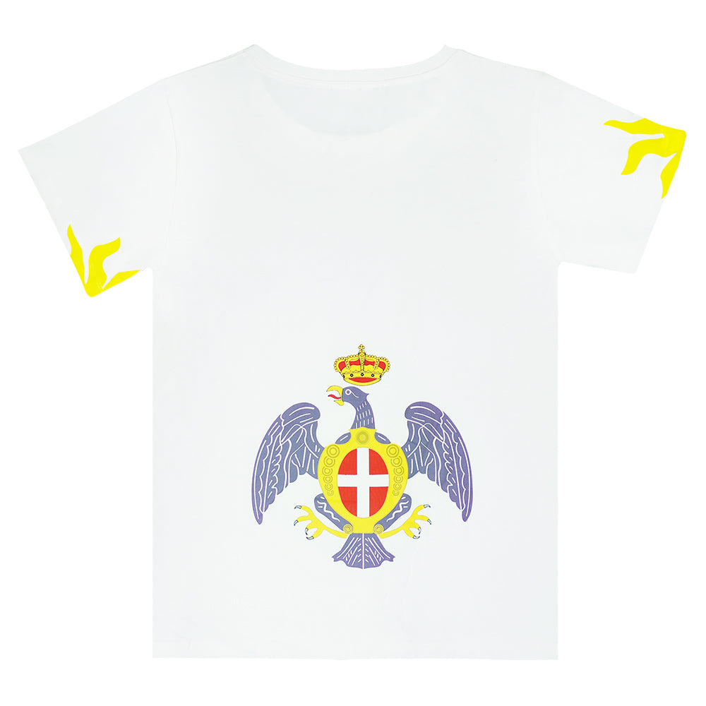 """Eagle and Crown"" Multi-Color / White Graphic T-shirt"