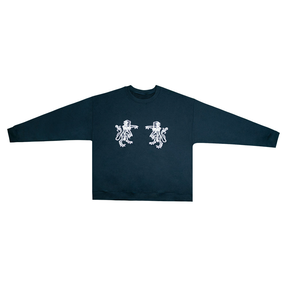 """Lions"" Black Graphic Sweatshirt"