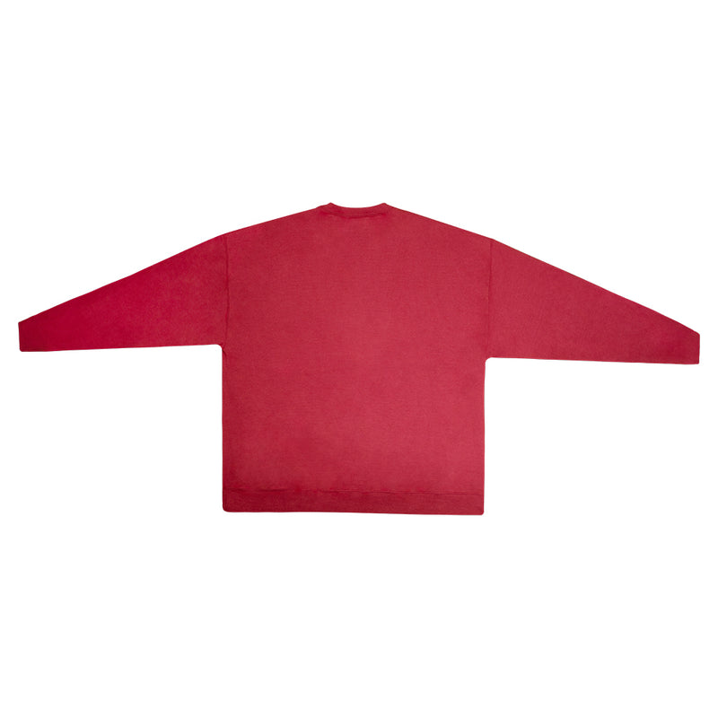 """Eagle and Crown"" Red Graphic Sweatshirt"