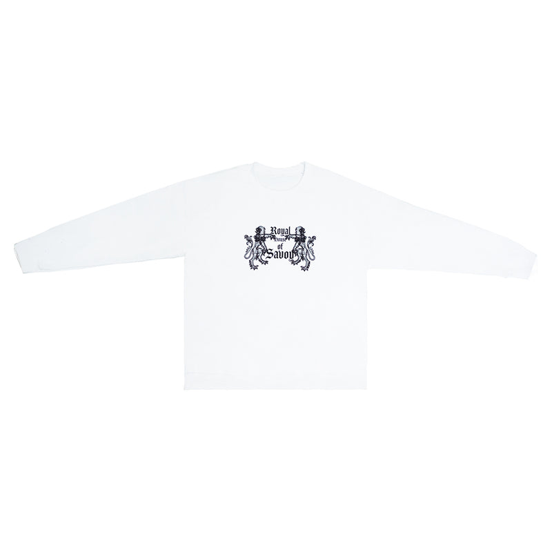 """Royal House of Savoy"" White Graphic Sweatshirt"