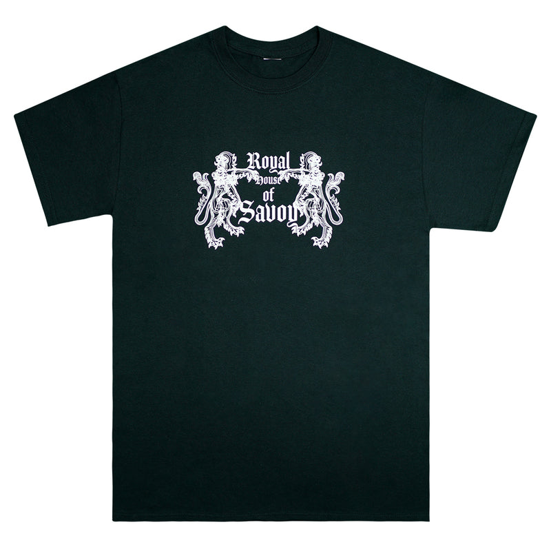"""Royal House of Savoy"" Black Graphic T-shirt"
