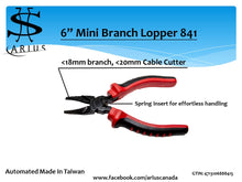 "Load image into Gallery viewer, Arius 6"" Mini Branch Lopper 800"
