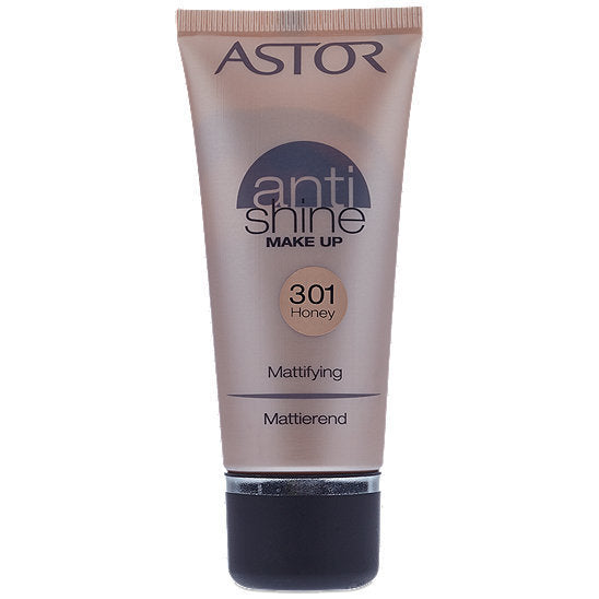 Astor Anti Shine Make Up, Farbe 301 Honey, 1er Pack (1 x 30 ml)