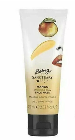 Being by Sanctuary Spa Face Mask 75ml - All Skin Types - Choose From 5 Variants[Mango Warming Clay]