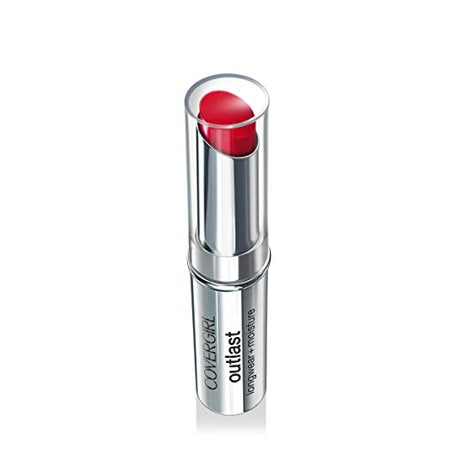CoverGirl Outlast Longwear Lipstick, Red Rouge, 0.13 Ounce