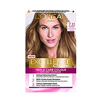 L'Oreal Excellence Creme Triple Care Colour Golden Beige Blonde 7.31