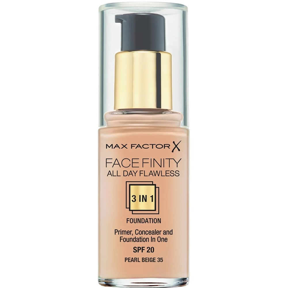 Max Factor All Day Flawless 3 en 1 Fond de Teint 35 Peral Beige 30 ml