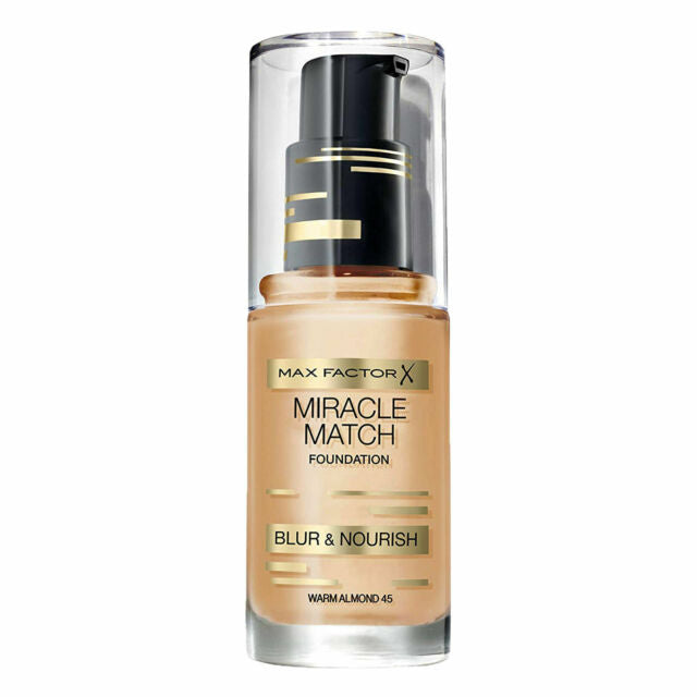 Max Factor Miracle Match Foundation Blur & Nourish Choose from 11 shades[Warm Almond 45]