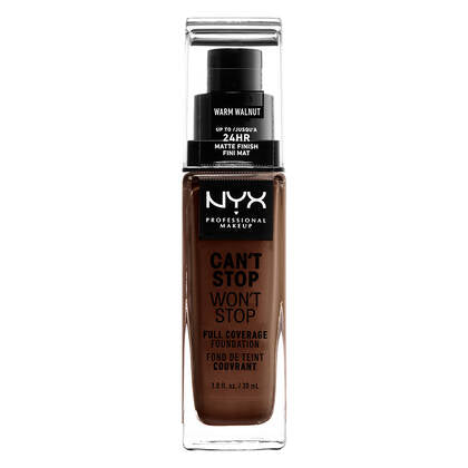 NYX Professional Makeup Can't Stop Won'T stop 24HR Full Coverage Foundation[Walnut]