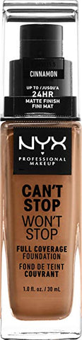 NYX Professional Makeup Can't Stop Won't Stop 24HR Full Coverage Foundation  [Cinnamon]